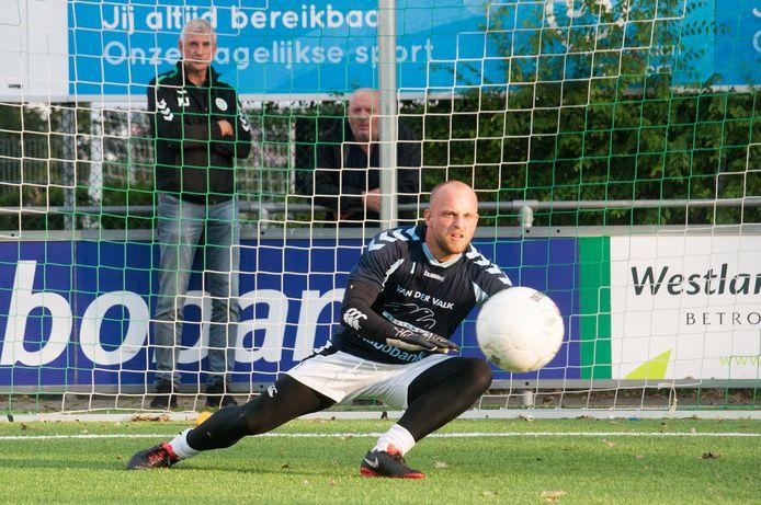 Westlandia-doelman Edgar Leerdam in betere tijden.