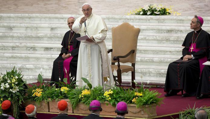 Paus Franciscus in Vaticaanstad.