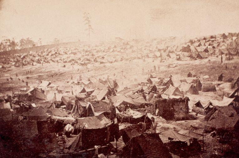 Krijgsgevangenkamp Sumter, Andersonville. Beeld Corbis via Getty Images
