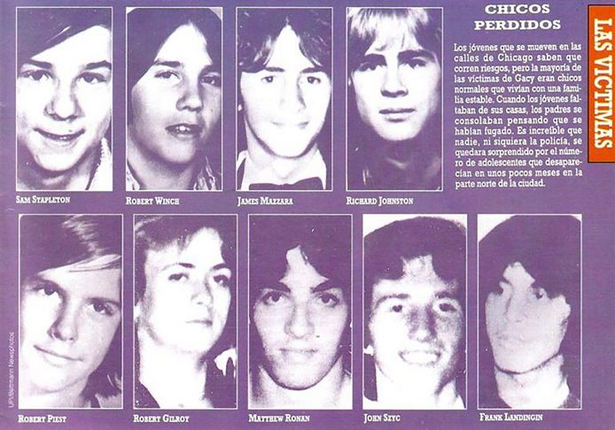 Enkele van de slachtoffers van de moordenaar.