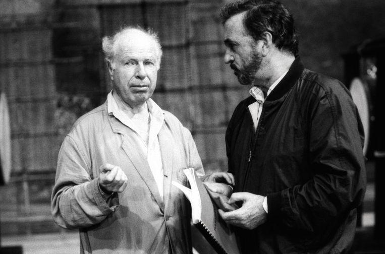 Pete Brook en Jean-Claude Carrière (1931) Beeld Sygma via Getty