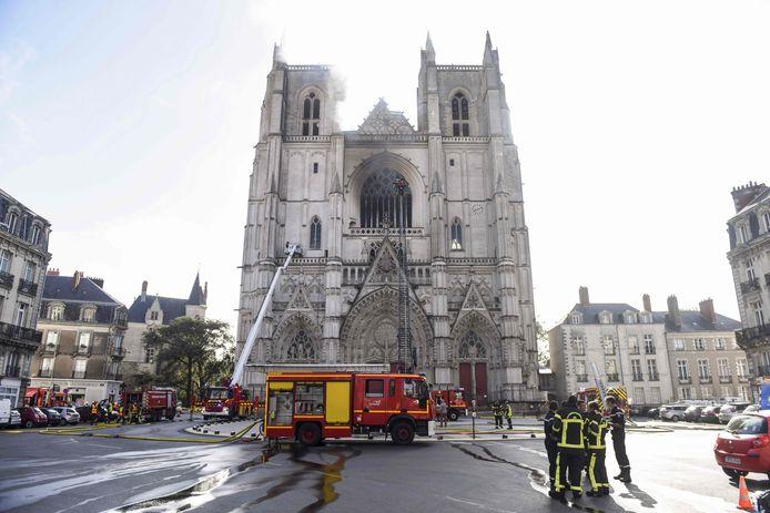 De brand in de kathedraal in Nantes.