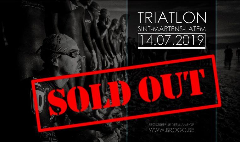 De olympische kwarttriatlon in Sint-Martens-Latem is uitverkocht.