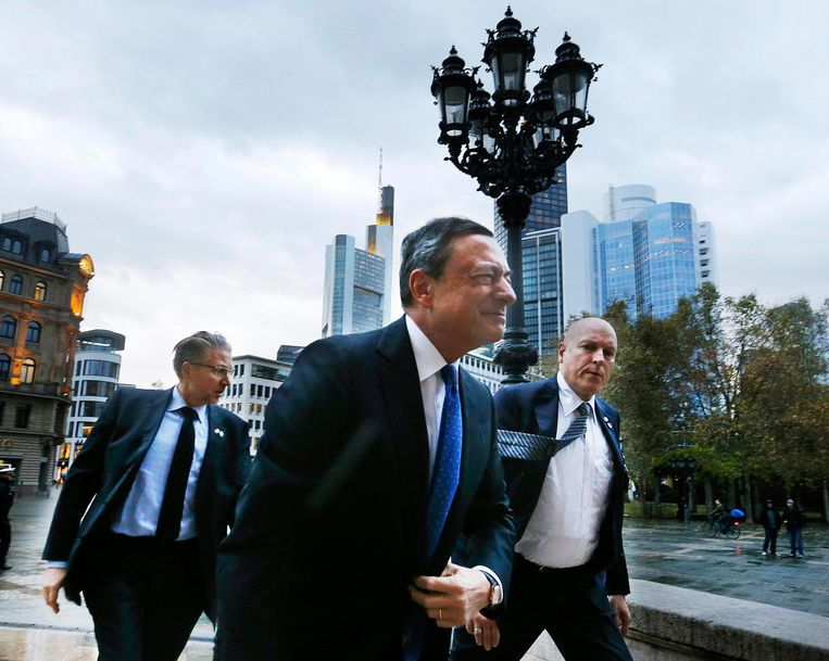 President Draghi van de Europese Bank. Beeld ap