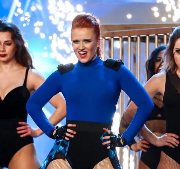 Carey Moonen tijden het optreden bij Britain's Got Talent.