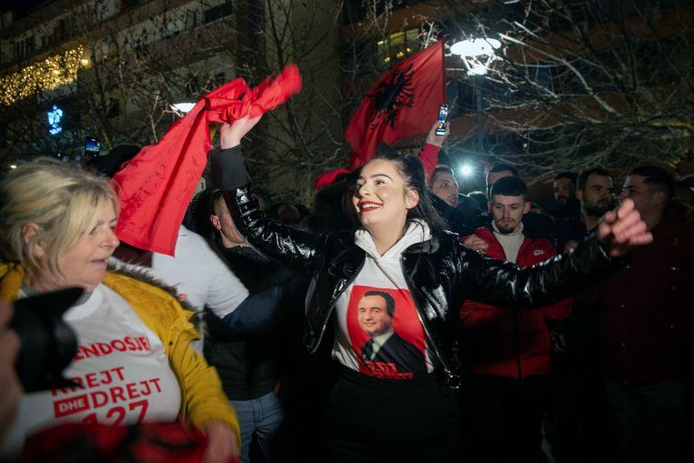 Aanhangers van de linkse partij van de zelfbeschikkingsbeweging. Beeld AP