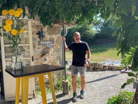 Kapper Guido is geknipt voor de camping in Frankrijk