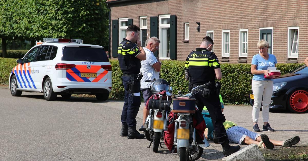 Man raakt in Boxtel gewond bij eenzijdig ongeval met motor.