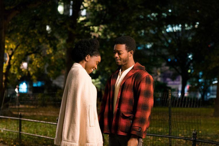 KiKi Layne als Tish en Stephan James als Fonny in 'If Beale Street Could Talk'. Beeld Tatum Mangus / Annapurna Picture