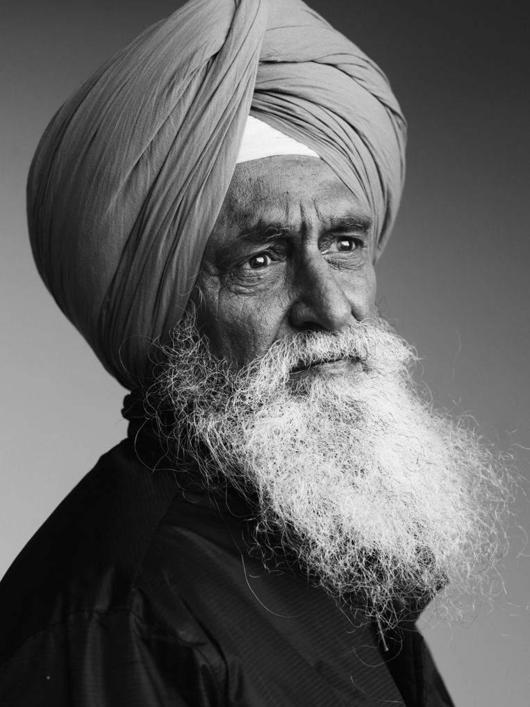 Amarjitsinthi Sohal (60) - Indiaas (Punjab) Beeld Stephan Vanfleteren