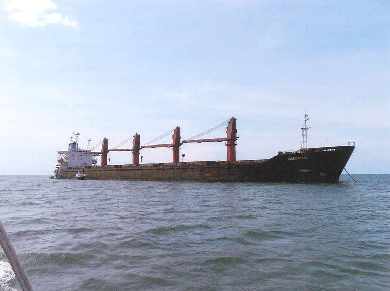 Het Noord-Koreaanse vrachtschip 'Eerlijke Wijze'. Beeld EPA