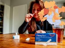 KAART | Minder besmettingen in de Achterhoek en op de Veluwe, vervelende uitschieters in 3 gemeenten