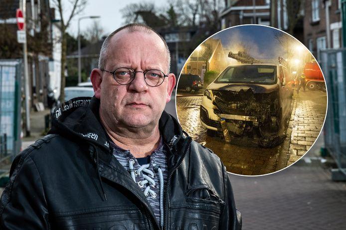 Ronnie Salarie deelde videobeelden van de man die zijn bus in brand stak in Deventer.