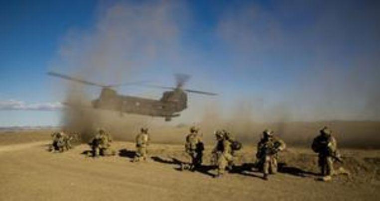 US Army Rangers, die ook worden ingezet bij commando-operaties van het Amerikaanse leger, vorig jaar op oefening in Californië. Beeld US Army