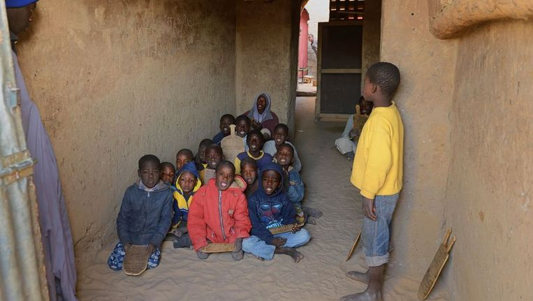 Schoolkinderen in de Malinese stad Timboektoe Beeld ANP