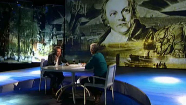 Henny vrienten te gast bij Jan Leyten in de eerste uitzending van Zomergasten 2012 Beeld Uitzending Gemist