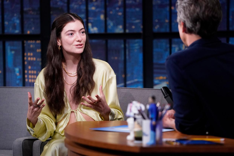 Lorde bij Seth Meyers Beeld NBCU Photo Bank via Getty Images