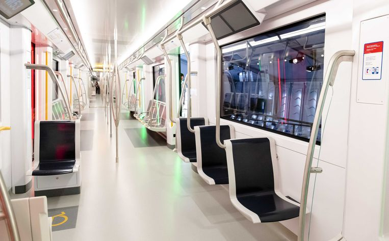 Volledig nieuwe metrowagons, zoals deze, zijn eerder uitzondering dan regel. Beeld ANP