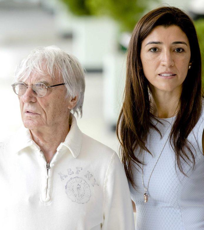 Bernie Ecclestone met zijn vrouw Fabiana