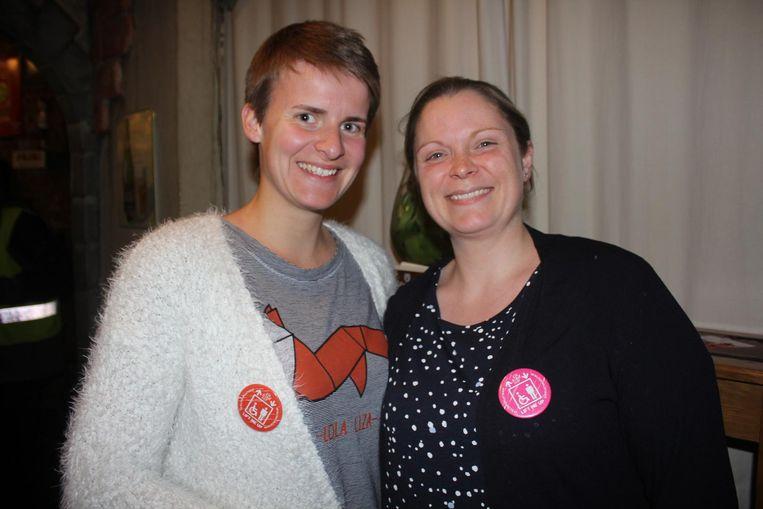 Lien Van der Biest en Tine De Mey van Lift Me Up.