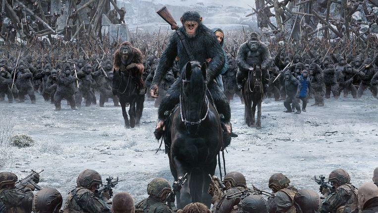'War for the Planet of the Apes', het recentste deel uit de franchise, uit 2017. Beeld rv