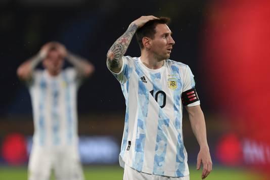 Ongeloof bij Lionel Messi.