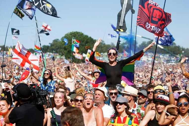 Sfeerbeeld van Glastonbury Festival. Beeld REUTERS