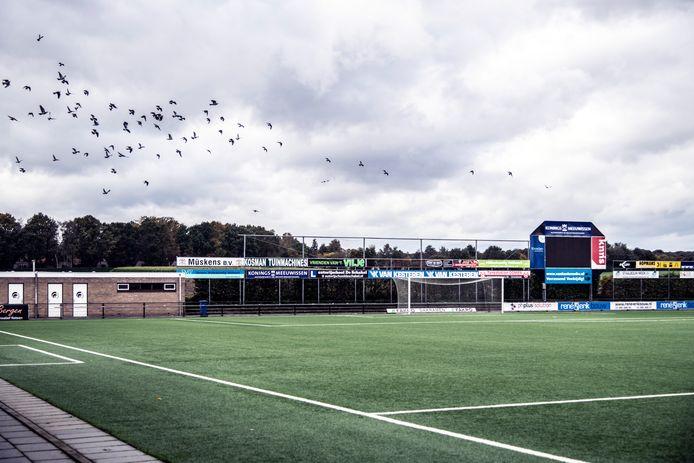 Sportpark De Heikant: hier wil een projectontwikkelaar huizen gaan bouwen.