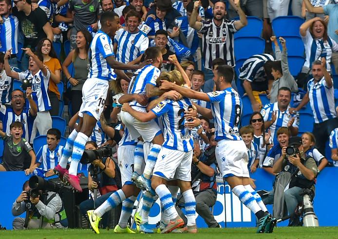 Real Sociedad viert het feest.