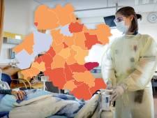 KAART | Verdubbeling van coronacijfers in Oost-Nederland na storing, behalve in één regio