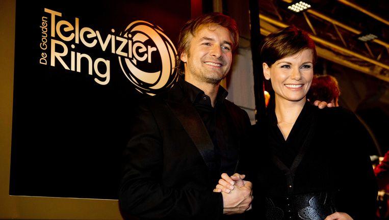 Acteurs Victor Reinier en Angela Schijf van Flikken Maastricht. Beeld ANP Kippa