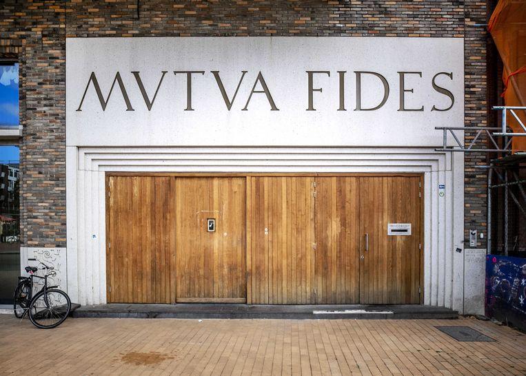 Studentenvereniging Vindicat aan de Grote Markt in Groningen. Beeld ANP
