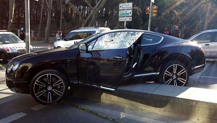 De auto van de eerder vandaag geliquideerde Ali A. Beeld AFP