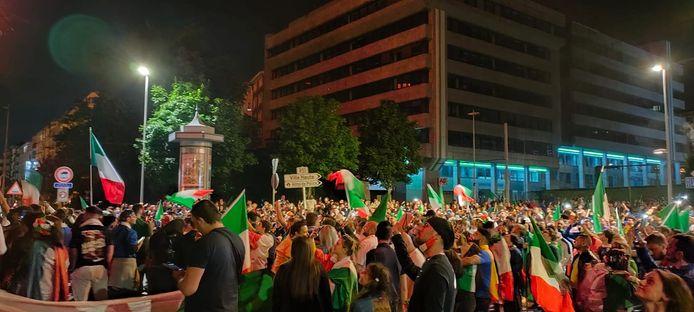La fête était totale à Charleroi après le succès de l'Italie en finale de l'Euro 2020