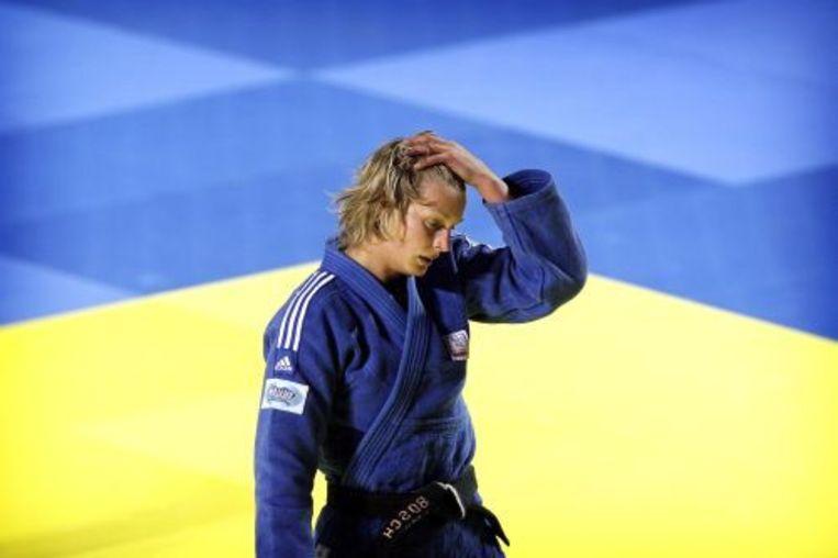 Edith Bosch is na maanden van afwezigheid weer terug op de judomat. ANP Beeld