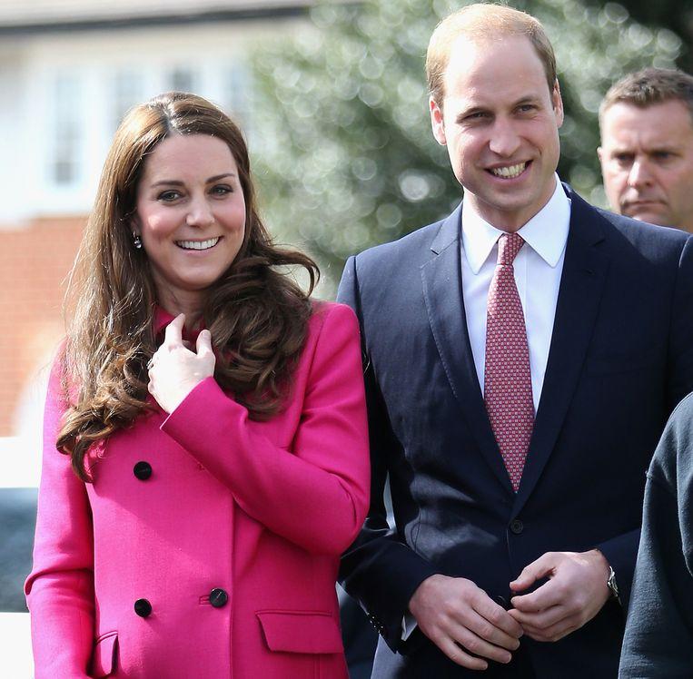 De hertog en hertogin van Cambridge afgelopen vrijdag in Londen. Beeld AP