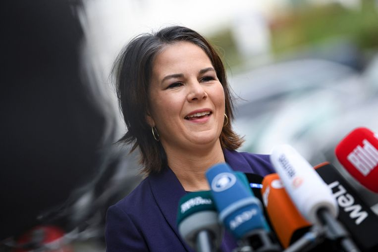 Annalena Baerbock van de Groenen. Beeld AFP