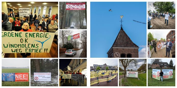Windmolenprotesten in Twente.