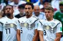 Boateng, Hummels en Müller.