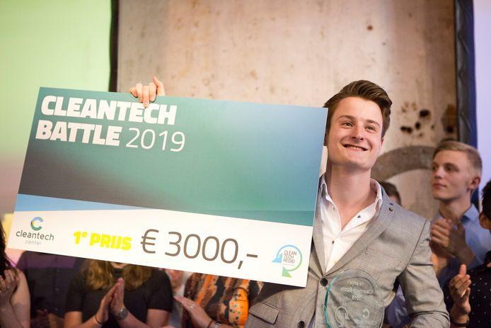 In 2019 won Lucas de Groot uit Apeldoorn de Cleantech Battle.