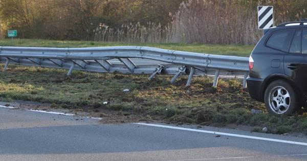 Botsing op A50 bij Sint-Oedenrode, niemand naar ziekenhuis.