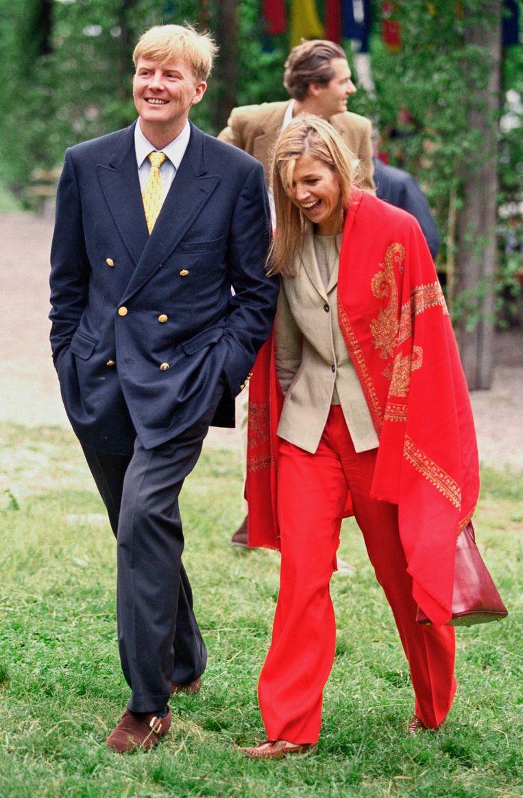 Bij het 25-jarig huwelijksfeest van koning Carl Gustaf en koningin Silvia van Zweden in juni 2001. Beeld UK Press via Getty Images