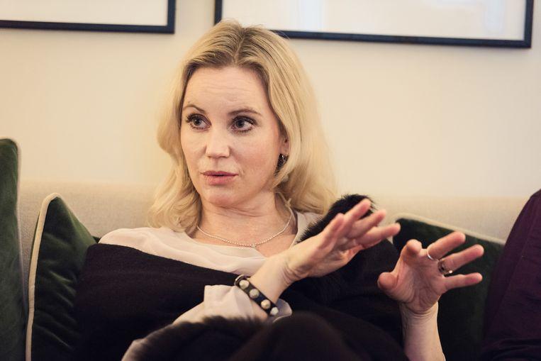 Sofia Helin, bekend van 'The Bridge', speelt in 'Atlantic Crossing' de Noorse kroonprinses Märtha.  Beeld Damon De Backer