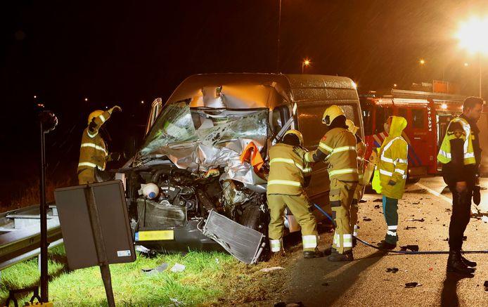 De bestuurder van het ongeluk in Rosmalen raakte zwaargewond.