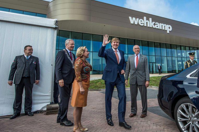 In 2015 opende koning Willem-Alexander het nieuwe distributiecentrum van webwinkel Wehkamp in Zwolle. Beeld EPA