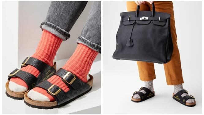 Dit merk maakt 'Birkinstocks' van oude Birkin-handtassen, en dat kost een fortuin