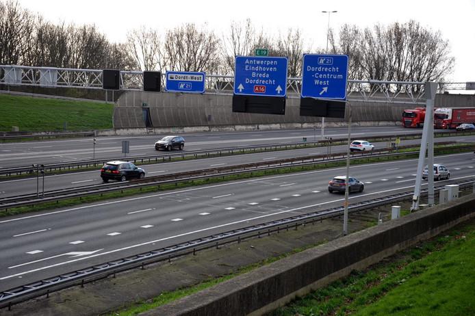 Op de snelwegen in en naar West-Brabant is het veel minder druk.