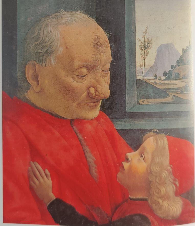 'Portret van een oude man met een jongen' (ca. 1480) Beeld Domenico Ghirlandaio
