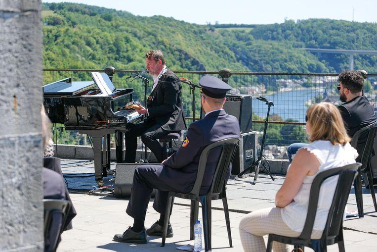 Daan concerteerde op de nationale feestdag, 21 juli in Dinant.    Beeld Photo News