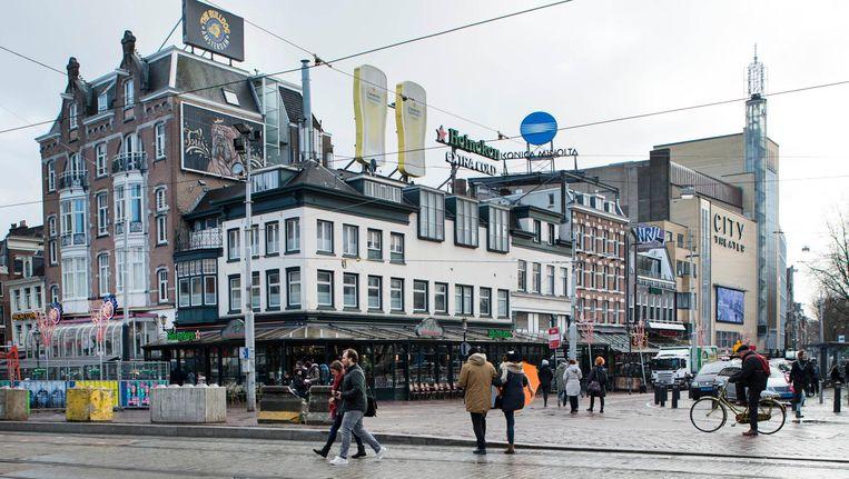 De Leidsebuurt is het eerste uitgaansgebied in Amsterdam waar zo'n verbod wordt ingesteld. Beeld Charlotte Odijk